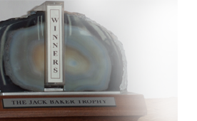 The winner will receive the Jack Baker Trophy and a certificate.